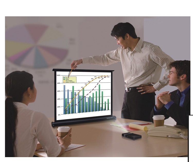 "Sapphire - Table Top - 81cm x 61cm - 40"" Diag - 4:3 Super Portable Projector Screen"