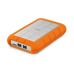 LaCie Rugged Triple external hard drive 1000 GB Orange,White