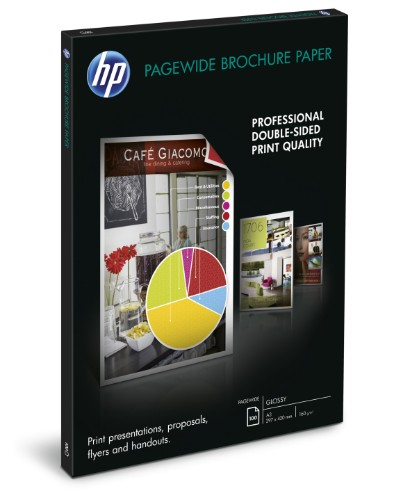 HP PageWide Glossy Brochure printing paper A3 (297x420 mm) Gloss White