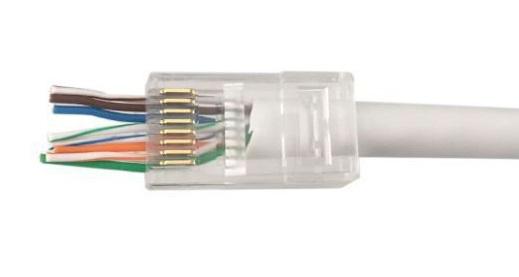 Microconnect KON505-50EZ wire connector RJ-45 Transparent