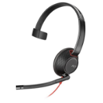 Plantronics Blackwire 5210 Monaural Head-band Black, Red
