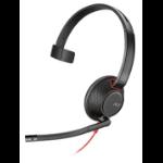Plantronics Blackwire 5210 Monaural Head-band Black, Red headset