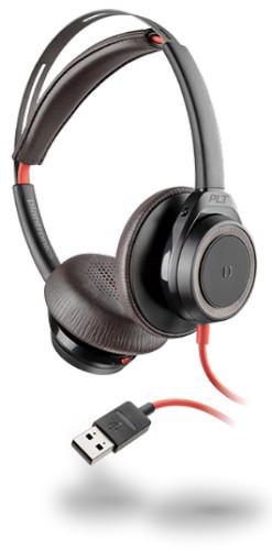 Plantronics Blackwire 7225 Binaural Head-band Black,Red