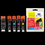 Jettec Remanufactured Canon PGI-5 + CLI-8 BBCMY Multipack
