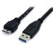 StarTech.com Cable 50cm USB 3.0 Super Speed SS Micro USB B Macho a USB A Macho Adaptador - Negro