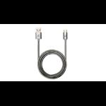 "iogear G2LU3CAM01-GY USB cable 39.4"" (1 m) 2.0 USB C USB A Stainless steel"