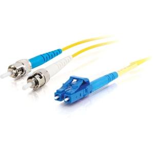C2G 85601 fibre optic cable 15 m OFNR LC ST Yellow