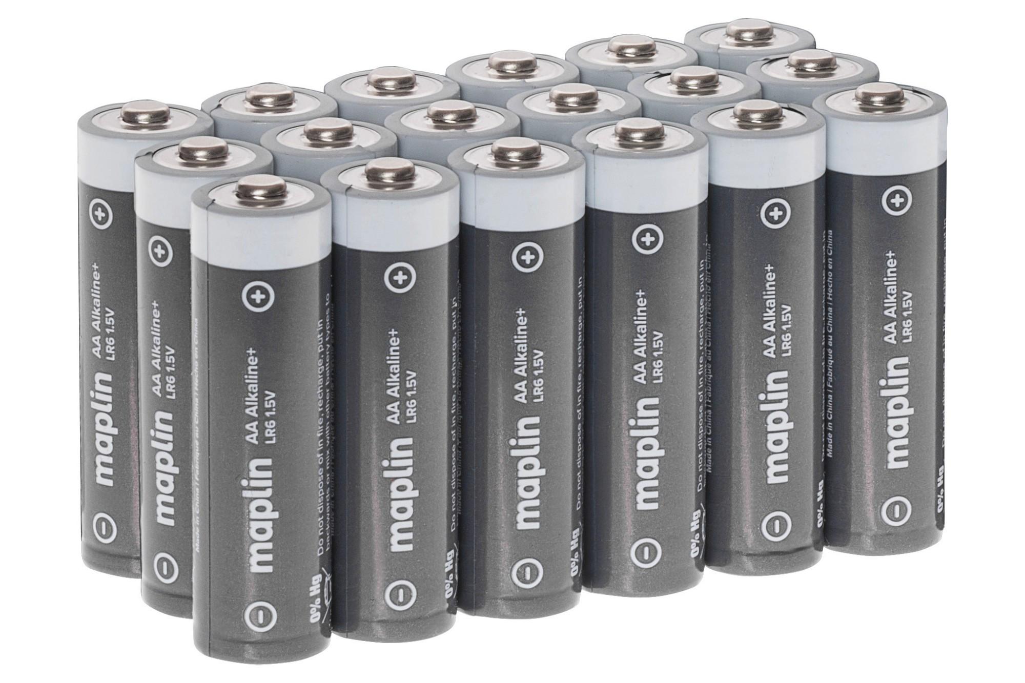 MAPLIN Extra Long Life High-Performance Alkaline AA Batteries - Pack of 18
