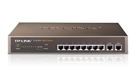 TP-LINK 8-Port 10/100Mbps + 2-Port Gigabit Switch