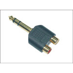 Microconnect 6.3mm - 2XRCA 6.35mm 2 x RCA cable interface/gender adapter