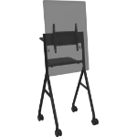 "Vision VFM-F10/BL flat panel floorstand 139.7 cm (55"") Portable flat panel floor stand Black"