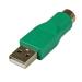 StarTech.com Adaptador Ratón conector PS/2 PS2 MiniDIN a USB - Macho USB - Hembra Mini-DIN
