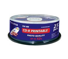 Cd-r 700MB 52x Spindle Printable Inkjet 25-pk