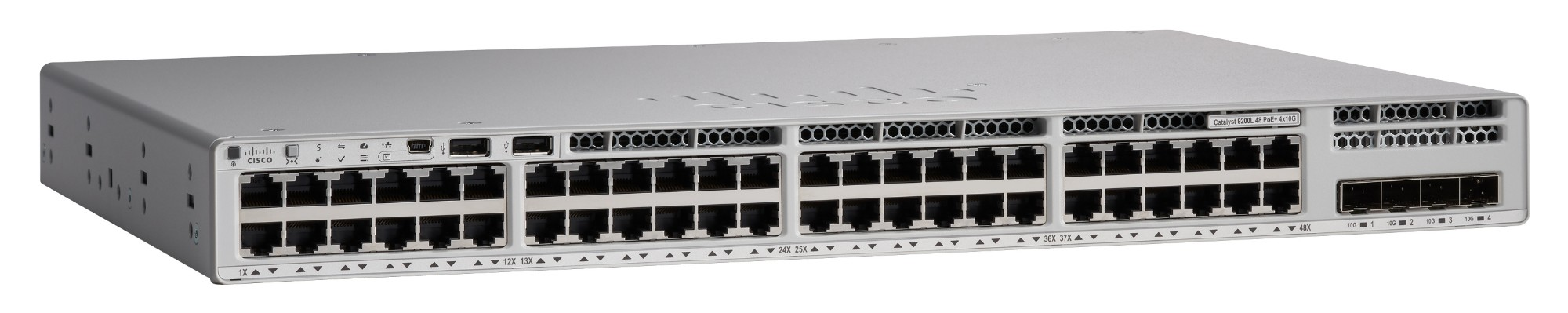 Cisco C9200L-48PXG-4X-E network switch Managed L2/L3 Gigabit Ethernet (10/100/1000) Gray Power over Ethernet (PoE)