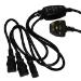 Videk 2098YT 1.5m Black power cable
