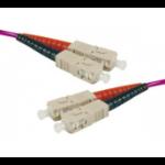 Hypertec 391480-HY fibre optic cable 1 m LSZH OM3 SC Purple