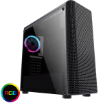 CIT Alizarin Black RGB Mid-Tower Gaming Case With Full Acrylic Window