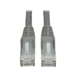 Tripp Lite Cat6 Gigabit Snagless Molded Patch Cable (RJ45 M/M) - Gray, 20-ft.