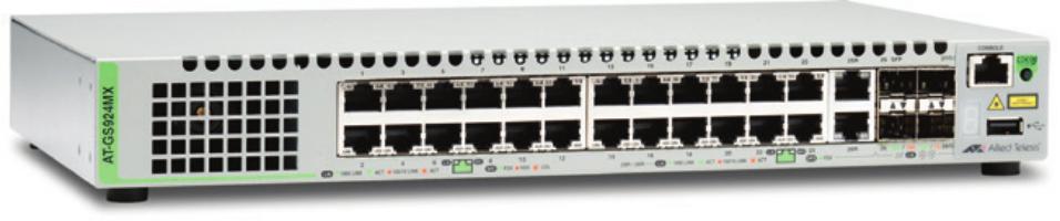 Allied Telesis AT-GS924MX-50 Managed L2 Gigabit Ethernet (10/100/1000) Grey