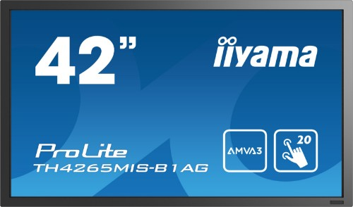 "iiyama ProLite TH4265MIS-B1AG touch screen monitor 106.7 cm (42"") 1920 x 1080 pixels Black Multi-touch"