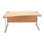 Arista Oak 1600mm Wave Desk Left Hand KF838642