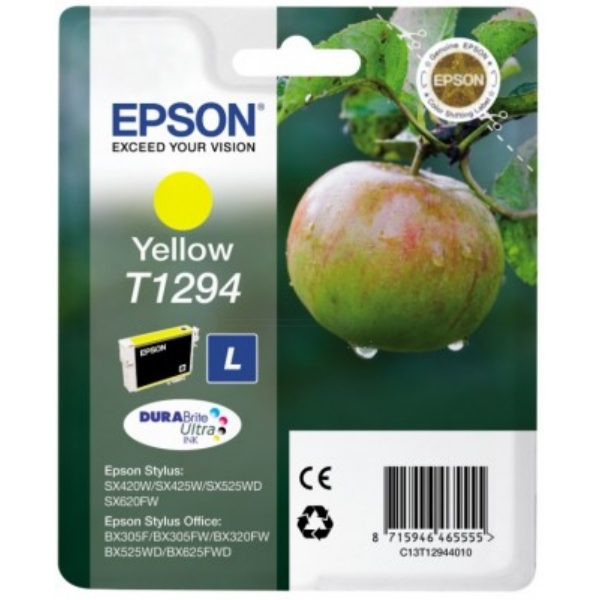 Epson C13T12944010 (T1294) Ink cartridge yellow, 515 pages, 7ml