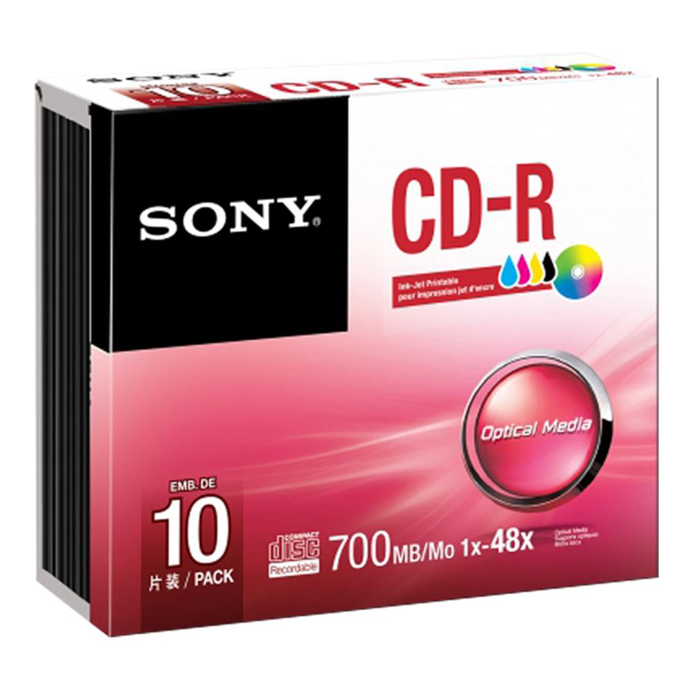SONY CD-R 48x 700MB INKJET Printable SLI