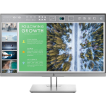 "HP EliteDisplay E243 23.8"" Full HD LED Flat Black, Silver computer monitor"