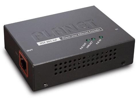 Planet POE-E101 network extender Network transmitter & receiver Black