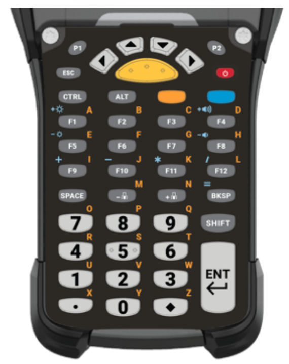 Zebra KYPD-MC9343FN-01 toetsenbord voor mobiel apparaat Alfanumeriek Engels Zwart, Grijs