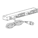 APC AP6015A 8AC outlet(s) 1U Black power distribution unit (PDU)