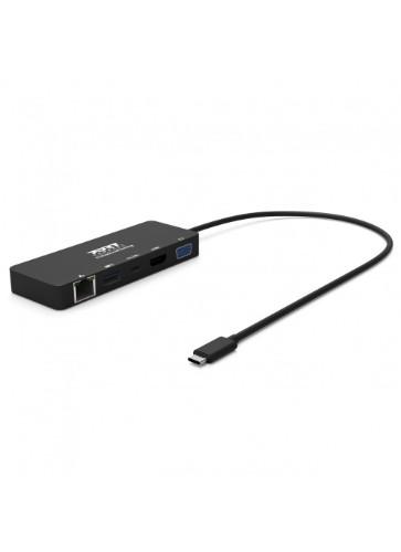 Port Designs 901909 notebook dock/port replicator Wired USB 3.2 Gen 1 (3.1 Gen 1) Type-C Black