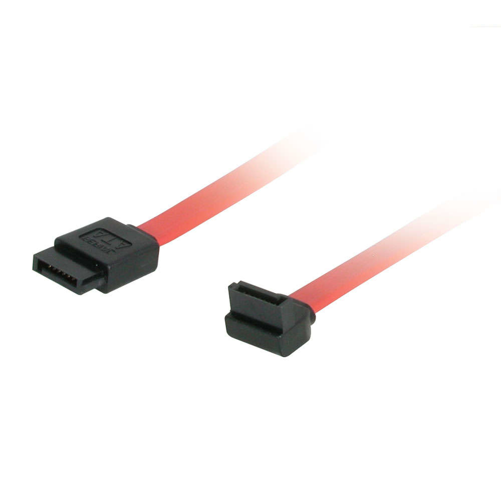 C2G 0.5m 180deg to 90deg Right Angle Serial ATA (SATA) Cable