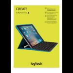 Logitech CREATE Smart Connector QWERTY UK English Black mobile device keyboard