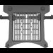 Vision VFM-DA3SHELFB soporte para ordenador portátil Notebook arm shelf Negro