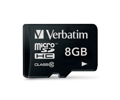 Verbatim Premium 8GB MicroSDHC Class 10 memory card