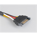 Akasa Sata Power Cable Extension 0.3m Black power cable