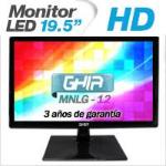 GHIA MONITOR LED MG2016 19.5 WS HD NEGRO VGA / BOCINAS ESTEREO INTEGRADAS