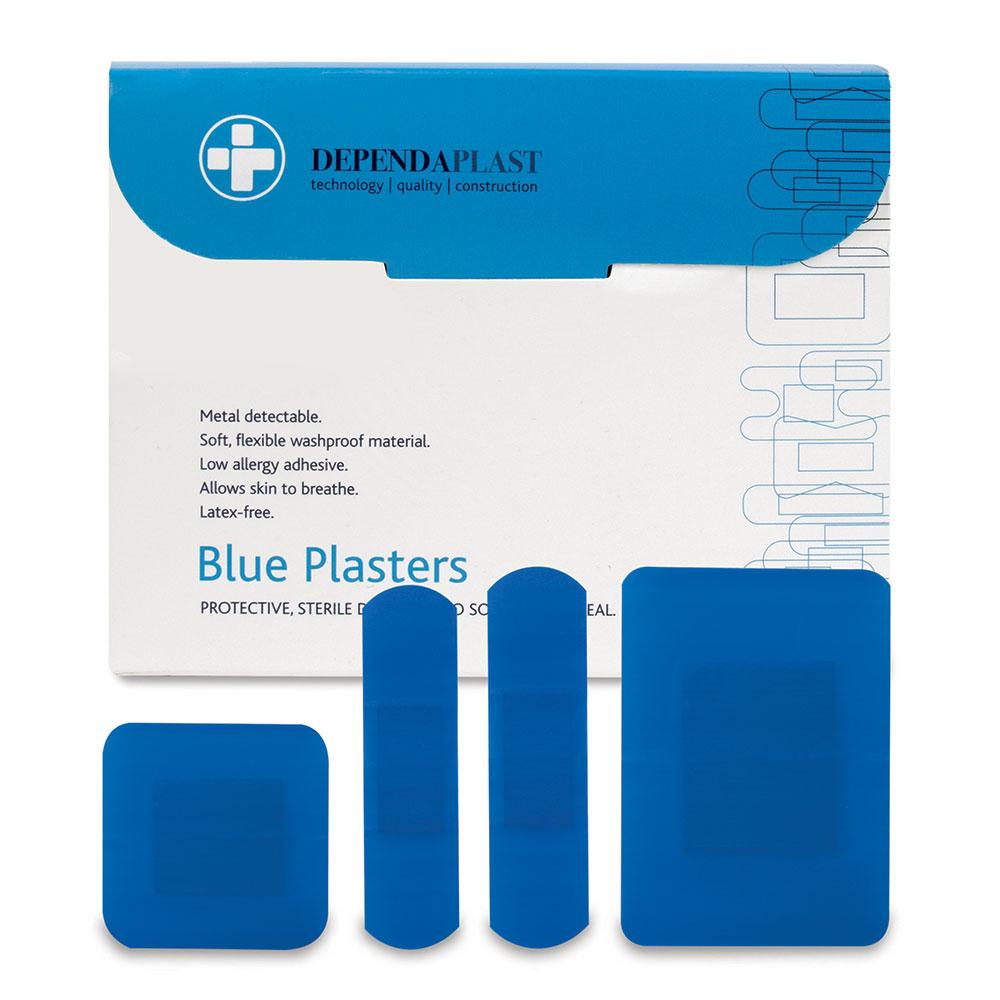 Reliance Medical Reliance Dependaplast Blue Plasters Assorted Sizes PK100
