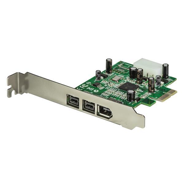 StarTech.com Adaptador Tarjeta FireWire PCI-Express PCI-e de 2 Puertos F/W 800 y 1 Puerto F/W 400