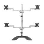 StarTech.com Desktop Quad Monitor Stand - Ergonomic VESA 4 Monitor Arm (2x2) up to 32