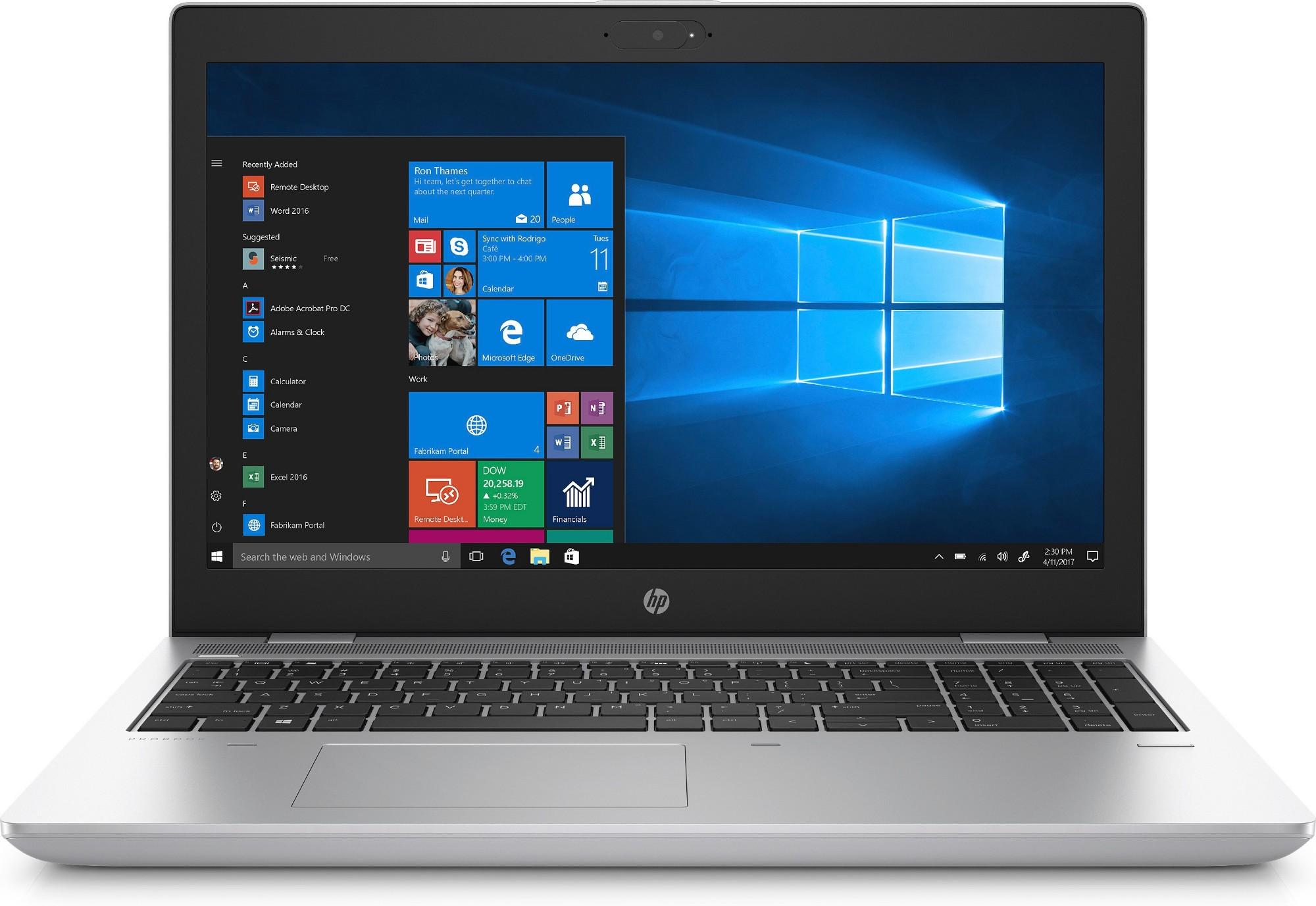 """HP ProBook 650 G4 Silver Notebook 39.6 cm (15.6"""") 1920 x 1080 pixels 8th gen Intel® Core™ i5 i5-8250U 4 GB DDR4-SDRAM 500 GB HDD Windows 10 Pro"""