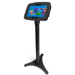 Maclocks Compulocks Surface Secure Space Enclosure with Adjustable Floor Stand Kiosk Black - Stand for tablet