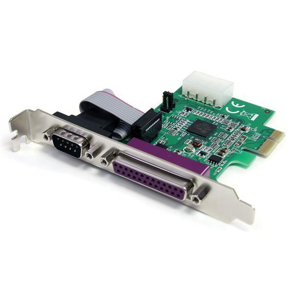 StarTech.com Adaptador Tarjeta PCI-Express un puerto Paralelo y un puerto Serie DB25 DB9 - UART16950