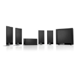 KEF T105 5.1channels 750W Black speaker set