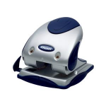Rexel Precision 240 2 Hole Punch Silver/Blue