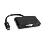 V7 USB-C male to DVI-D / USB3.0 / USB-C female Adapter Black