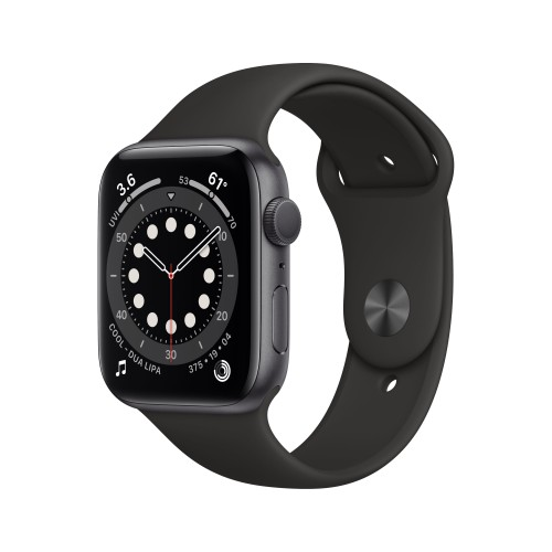 Apple Watch Series 6 GPS, 40mm Space Gray Aluminium Case with Black Sport Band - Regular