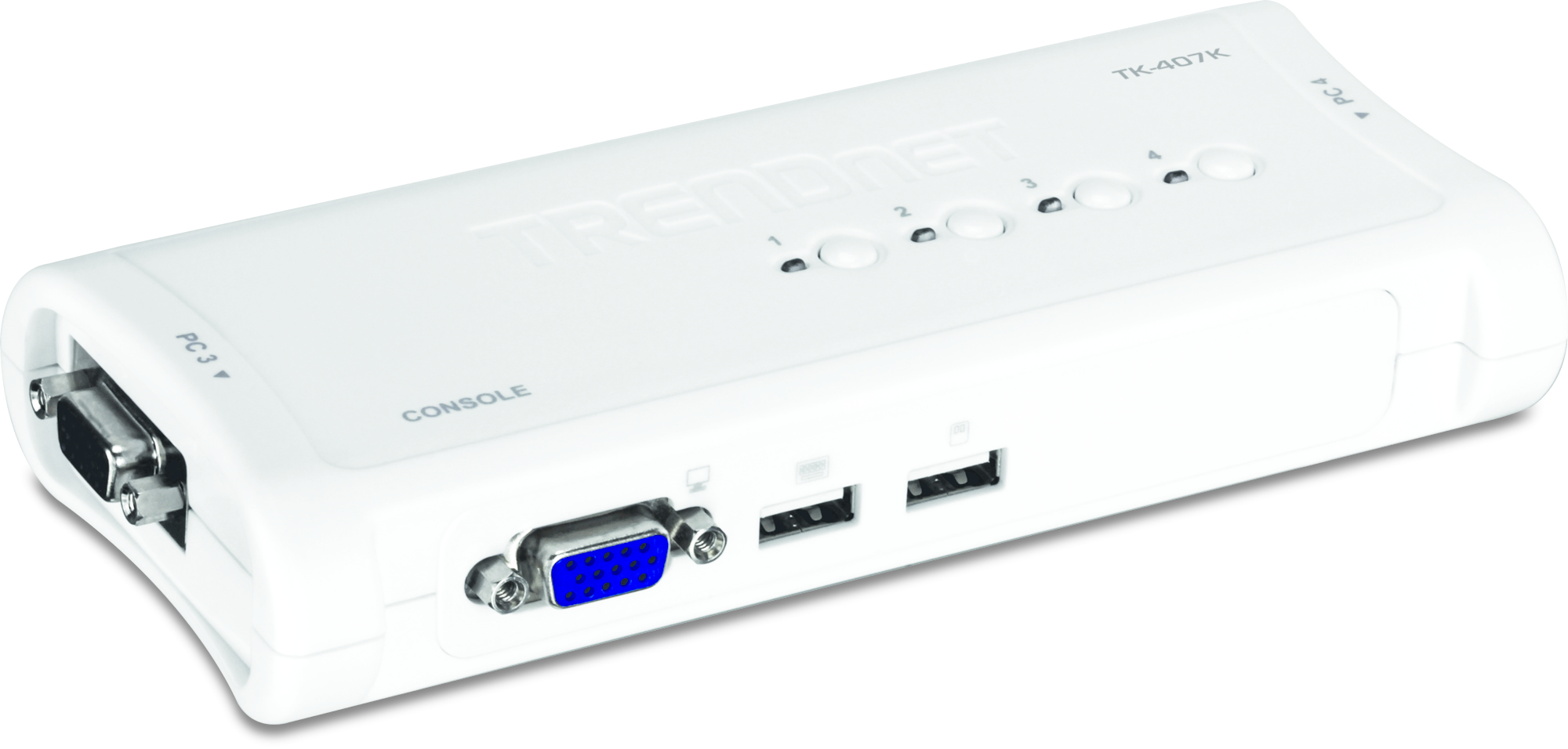 Trendnet TK-407K KVM switch Blue