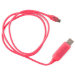 Generic Astrotek 1m LED Light Up Visible Flowing Micro USB Charger Data Cable Pink Charging Cord for Samsung